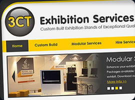 3ct exhibition services website design
