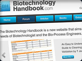 biotechnology handbook web design
