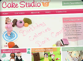 cake shop ecommerce website