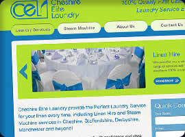 cheshire laundry wordpress cms website