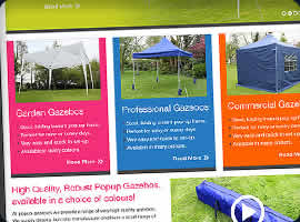 ecommerce web design gazebos