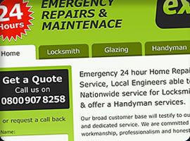express home repairs website design