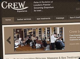 london barbers website design