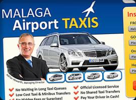 malaga airport taxis web design