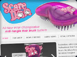 new hair brush products ecommerce design