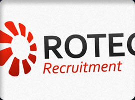 rotech recruitment logo design