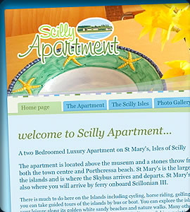 scilly apartment website design