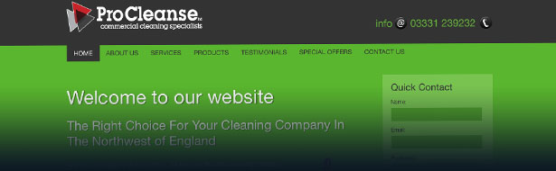 web design wirral procleanse