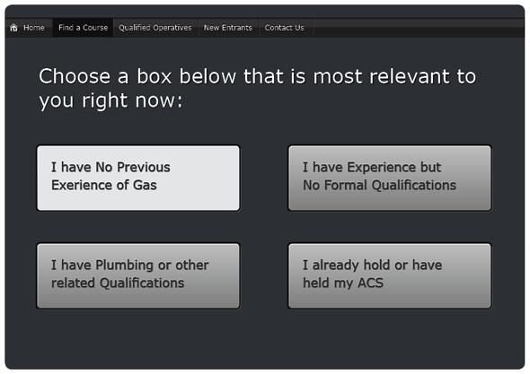 Find a gas course web design