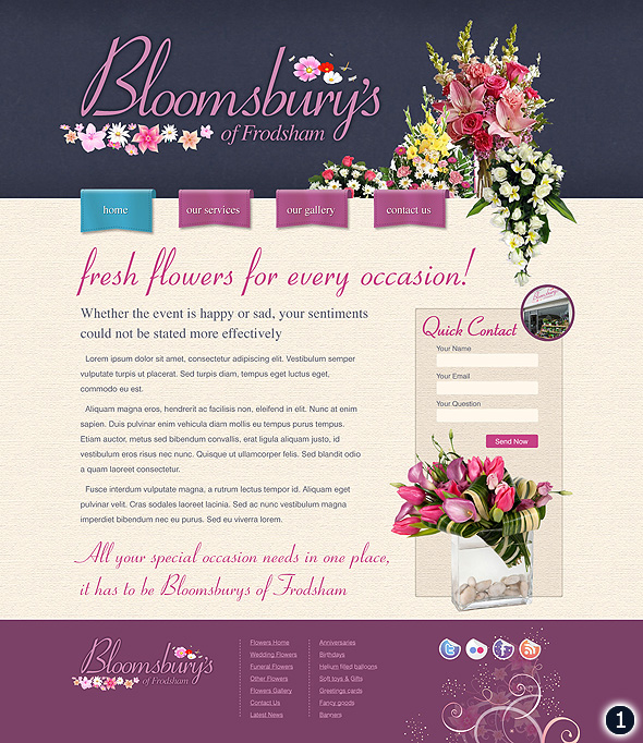 cheshire flower shop web design