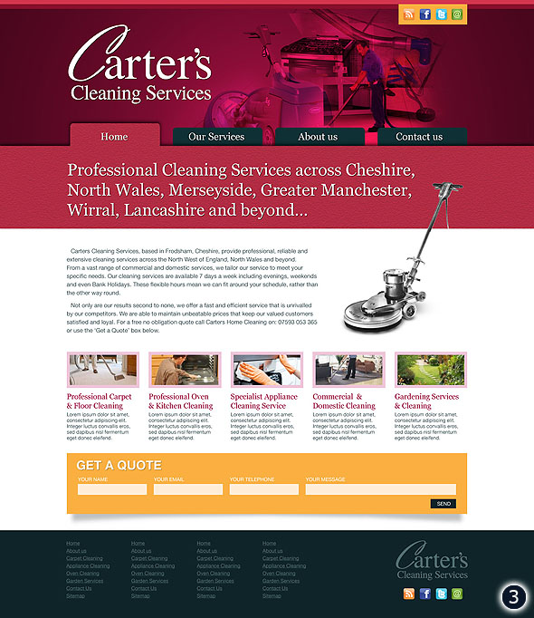 graphic website design cheshire
