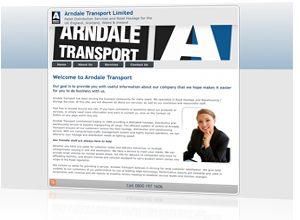 Content management system cms designed, produced and maintained by Rabbitdigital for Arndale Transport Ltd, Frodsham, Cheshire