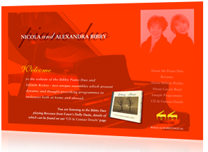 Flash website designed and created for Nicola & Alexandra Bibby, Wirral