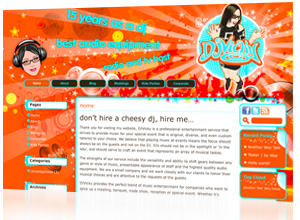 CMS Web Design and Production by Rabbitdigital Frodsham for DJVicky, Ibiza