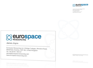 Logo and stationery design by Rabbitdigital for Eurospace Resourcing Ltd, Cheshire
