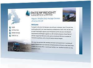 Flash website designed and created for Interfreight Logistics Cheshire