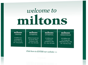 Web design and maintenance for Miltons Liverpool, Chester, Birkenhead