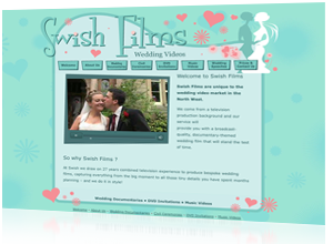 Website & Logo design by Rabbitdigital for Swish Films, Frodsham, Cheshire