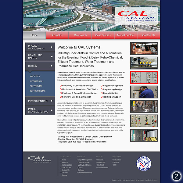 Website Design for CAL Systems in Chester Cheshire version 2