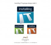 installing IT finished logo design