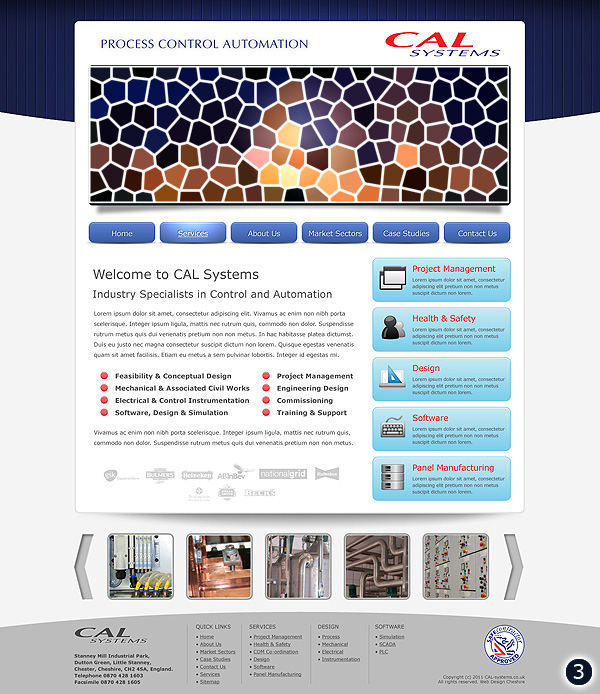 Website Design for CAL Systems in Chester Cheshire version 3