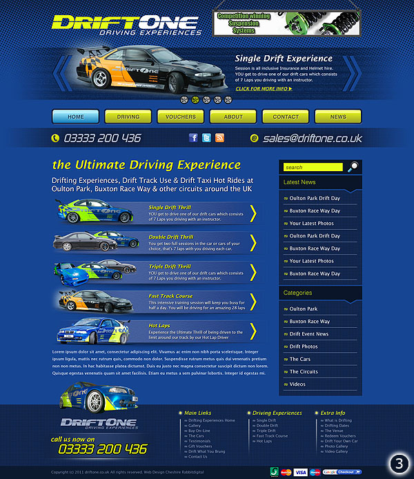 driftone oulton park cheshire new website designs