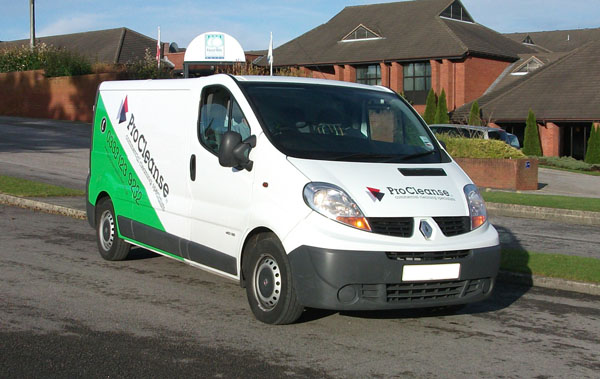 vehicle graphics design for wirral based procleanse cleaning ltd