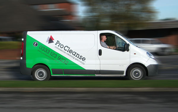 Vehicle Graphics Design For Wirral Cleaning Company Procleanse