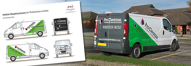 vehicle graphics design wirral cleaning company