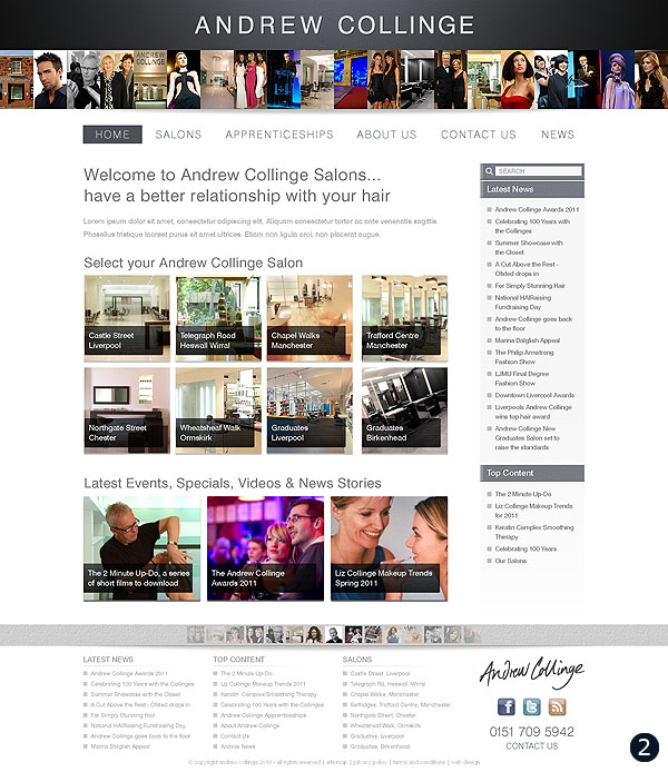 andrew collinge hair beauty website option 2