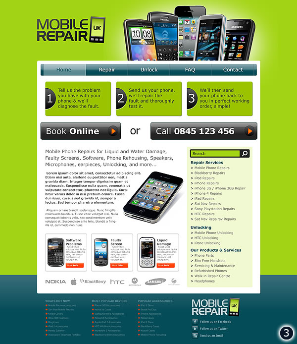 cheshire mobile repair web design