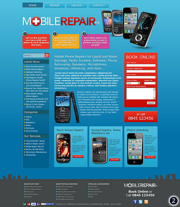 runcorn mobile repair website design