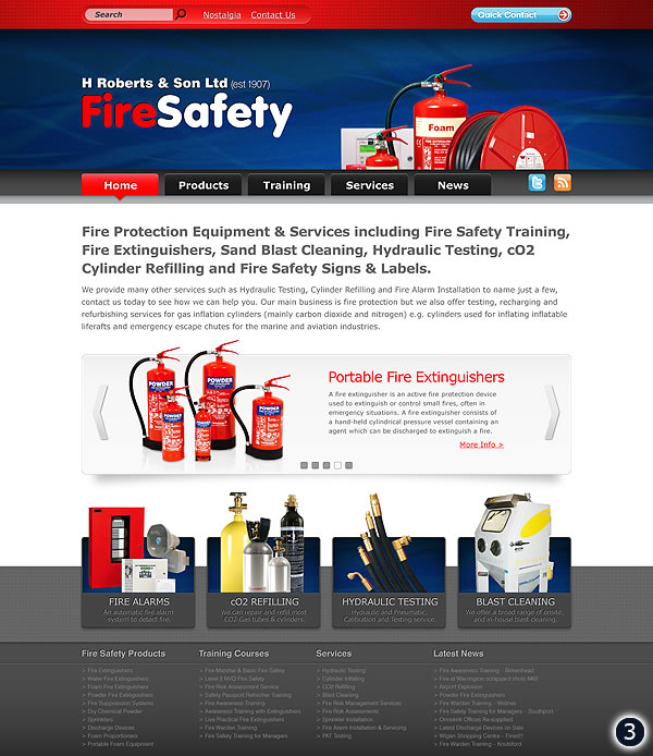 fire protection website design liverpool