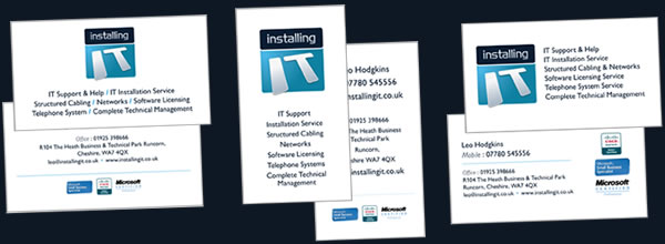 installing it business cards options