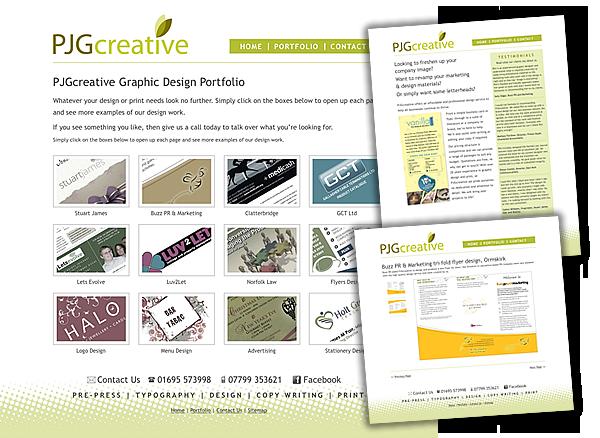 pjgcreative graphic design portfolio ormskirk lancashire