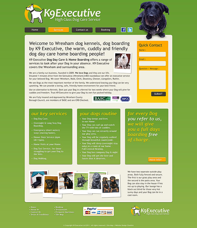 Business website layout ideas images for Dog kennel layouts