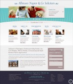 elegant website home page design turquoise banner