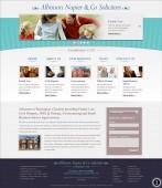 elegant website home page design turquoise banner