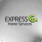 express home services 3d e shape logo design