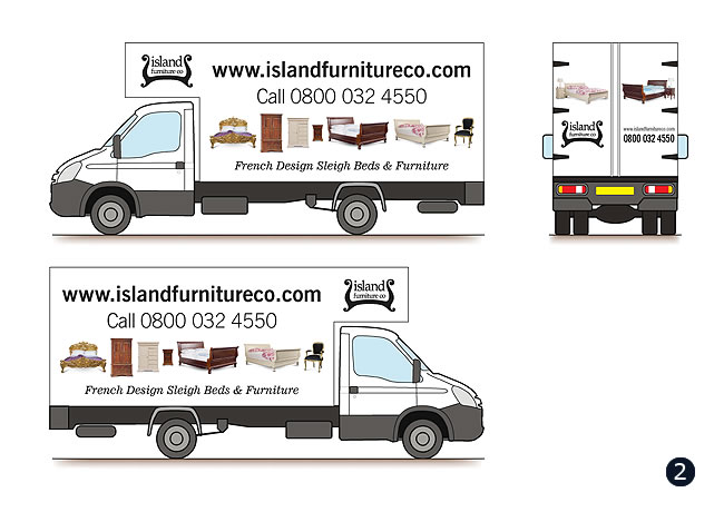 iveco box delivery van livery design