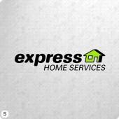 lime green house shape black lettering logo