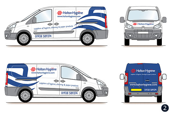 vehicle graphics design dark blue swirl