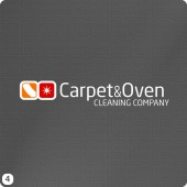 carpet swish sparkle oven logo design