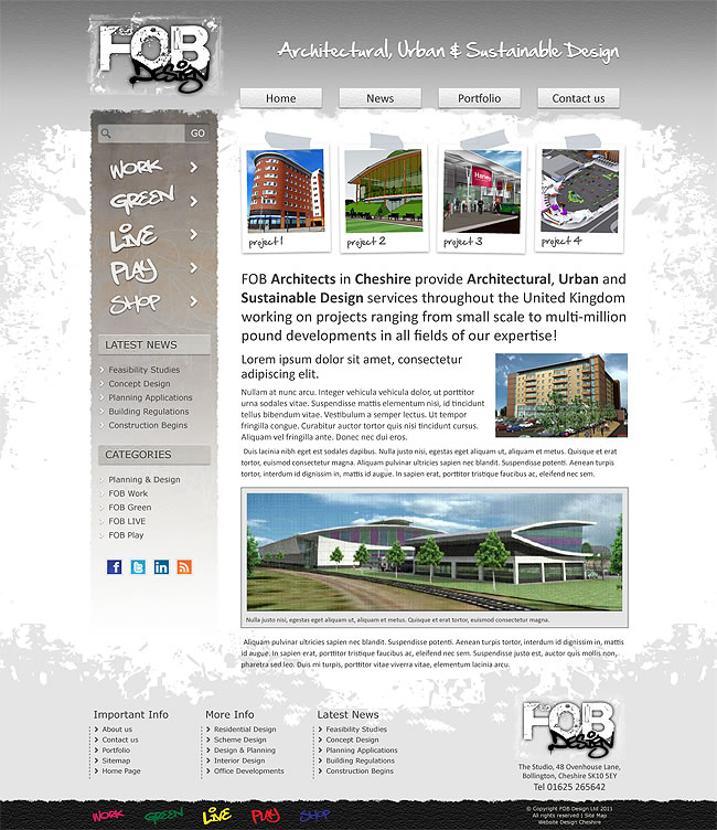fob architects home page design