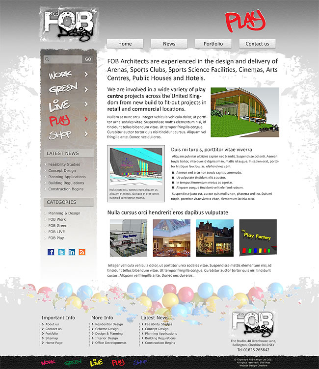 fob architects play page design