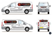 carpet oven co van graphics design 1