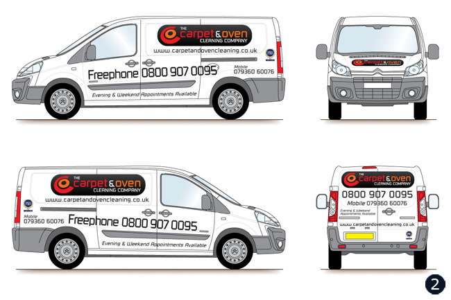 Van Graphics Vehicle Livery Design Carpet amp Oven Cleaning Co