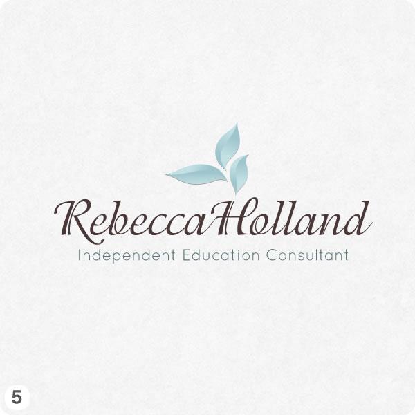 Logo designs for rebecca holland consultancy in cheshire for Design consultant company