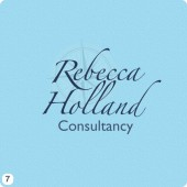 rebecca holland logo design tinted compass background