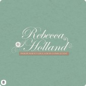 rebecca holland logo design elegant subtle shades colour
